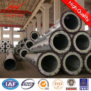 Hot Galvanized or Powder Coating Steel Pole pictures & photos
