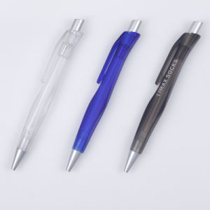 Rubber Spray Plastic Pen with Printed Logo Tc-6005