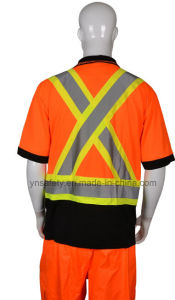 Hi Vis Class 2 Polyester Reflective Safety T Shirt / Polo Tshirt pictures & photos
