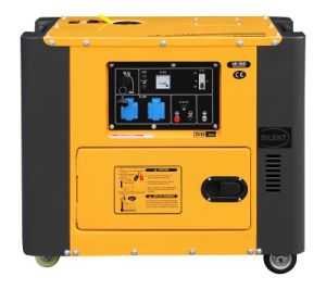 4.6kw Portable Silent Diesel Generator Air-Cooled Great Color Matching pictures & photos