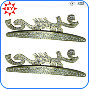 Wholesale Free Mold Silver Lapel Pins with Rhinestone pictures & photos