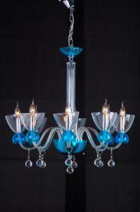 Blue Glass Chandelier Lamps (QD007-8L) pictures & photos