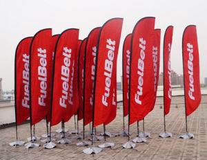 Tongjie Printing Giant Feather Beach Flag for Promotion (TJ-BF0034) pictures & photos
