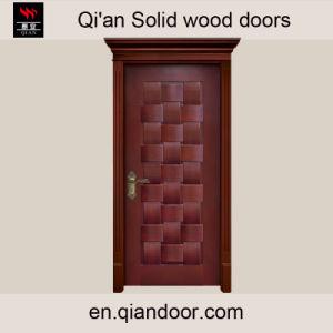 Black Walnut Solid Wooden Entry Door with Roman Head pictures & photos