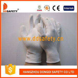Ddsafety 2017 White PU Coated Nylon Work Gloves pictures & photos
