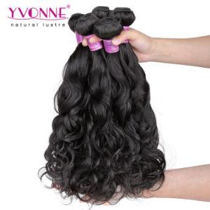 Natural Wave Natural Black Color Virgin Remy Brazilian Human Hair pictures & photos