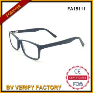 Square Acetate Eyeglasses, Unisex Black Eyeglass (FA15111) pictures & photos