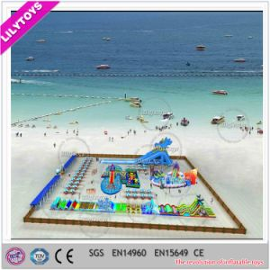 Lilytoys Popular Inflatable Moving Water Park for Sea Beach (Lilytoys-wp-036) pictures & photos