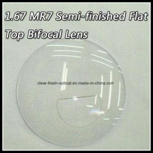1.67 Mr7 Semi-Finished Flat Top Bifocal Lens