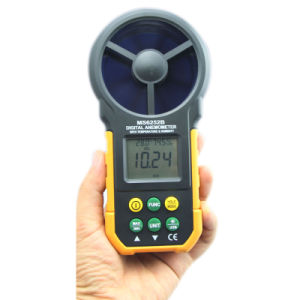 Digital Anemometer T&Rh Sensor Air Wind Speed Velocity Meter USB Interface