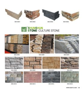 High Quality Slate Faux Stone Veneer with Cement for Sale pictures & photos