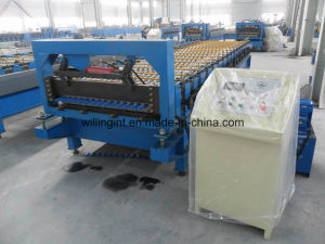 Glazed Wall and Roofing Sheet Roll Forming Machine for Metal Corrugated Roof Panel pictures & photos