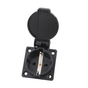 Ce TUV 16A IP44 Waterproof European Euro German Schuko Electrical Power Outlet Socket for Industrial Generator Electric Car (050101) pictures & photos