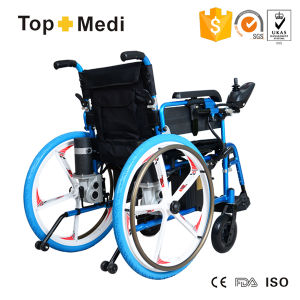 Magnesium Alloy Five Fork Wheel Foldable Power Electric Wheelchair pictures & photos