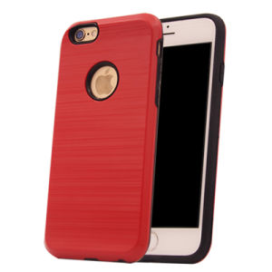 Wire Drawing Steel 2 in 1 PC+TPU Hard Solid Phone Case for iPhone 7 7plus (XSEH-005) pictures & photos