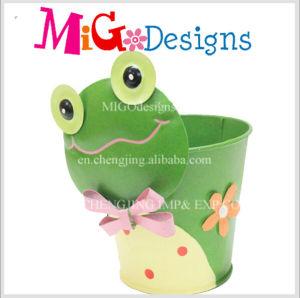 Unique Frog Metal Aniamal Planter Gareden Flower Hot Sale Handmade pictures & photos