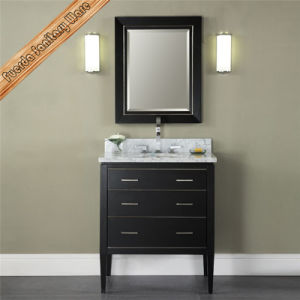 New Design Black Finishing Single Sink Bathroom Cabinet Vanity pictures & photos