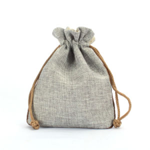 Wholesale Small Drawstring Burlap Packaging Bag  Cjb1007 pictures & photos