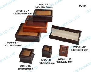 Wooden Jewelry Set Box with Leather Window pictures & photos