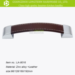 2016 Fancy Cabinet Hardware Leather&Zinc Furniture Handle pictures & photos