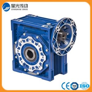 RV075 Blue Aluminum Worm Reduction Gearbox Geared Motor pictures & photos