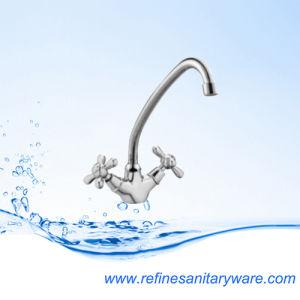 Chrome Zinc Dual Handle Kitchen Mixer Faucet (R7002857C-M7112Y) pictures & photos