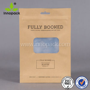 Brown Ziplock Kraft Paper Bag with Clear Window pictures & photos