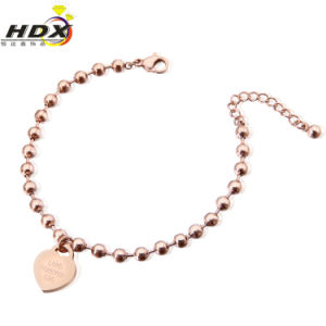 Fashion Jewelry Stainless Steel Heart-Shaped Bracelet pictures & photos