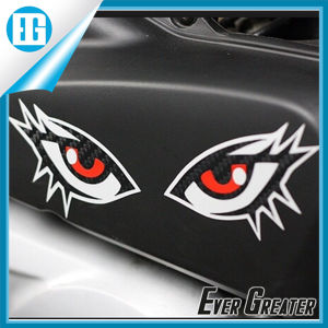 Customized Carbon Fiber Decals Eyes Stickers for Car pictures & photos