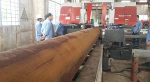 Pipe Prefabrication Band Saw Cutting Machine pictures & photos