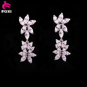 New Fashion Flower Gemstone Bridal Stud Earrings pictures & photos