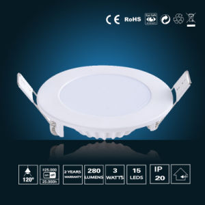 3W LED Panel Lighting φ 85*16mm pictures & photos
