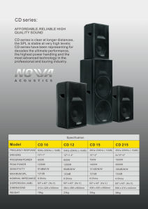Hot Sale Professional Loudspeaker PRO Audio (CD Series) pictures & photos