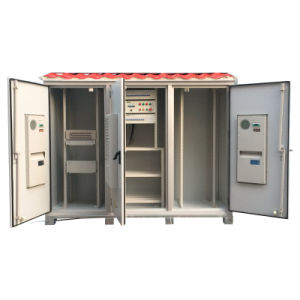 Outdoor Aluminum Cabinet with 3 Doors for Base Station pictures & photos
