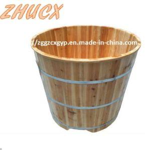 Beautiful Round Wooden Bathtub Bath Appliances High Quality Bathtub pictures & photos