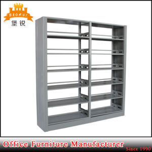 Knock Down Double Side Steel Book Rack for School pictures & photos