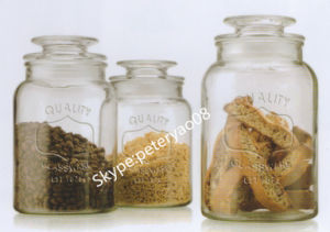 Glass Storage Bottle with Glass Lid pictures & photos
