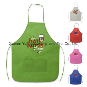 Promotional Custom Printed Black Cotton Canvas Kitchen Apron for Men pictures & photos