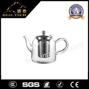 Blown Transparent Kongfu Scented Glass Teapot with Single Wall Glass Cups