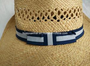 Raffia Straw Cowboy Hat Shapeable Brim Hat pictures & photos
