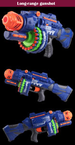2207051-Semi-Automatic Soft Gun with 20 PCS Soft Bullet 20 PCS Suction Cup Bullet Shooting Pistol Toy pictures & photos