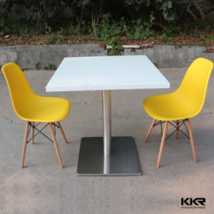 Artificial Stone Solid Surface White Coffee Table with SGS Certificate (V70516) pictures & photos