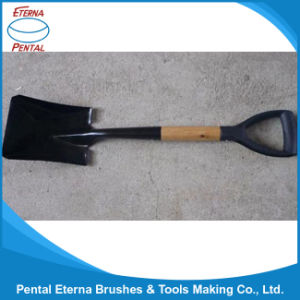 Made in China Square Shovel with Wooden Handle pictures & photos