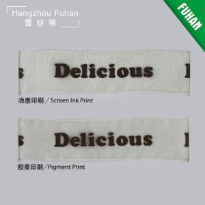 Custom Printed Logo Organza Lace Ribbon pictures & photos
