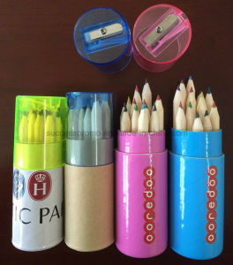 12PCS Color Pencils Set Packed in Paper Tube with Sharpener pictures & photos