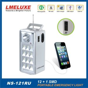 Rechargeable USB and FM Radio LED Emergency Lighting pictures & photos