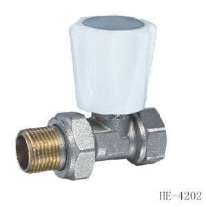(HE4202--HE4203) Radiator Valve with Zinc, Aluminum or Plastic Handle for Water