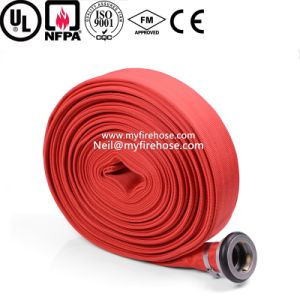 8 Inch PU Material Canvas Fire Hydrant Hose pictures & photos