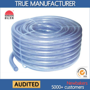 PVC Braided Reinforced Fiber Hose (KS 698CSSG Clear)