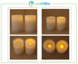 LED Flower Carve Wax Candle (HD-WCL-006)